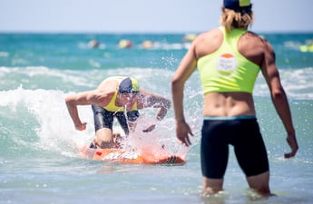 Compete aganist fellow athletes in the water and on the beach. Must have a lifeguard award.